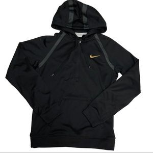 Nike Therma Fit Mens Hoodie Size XS Black Gray